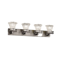 Justice Design Veneto Luce 4 Light Bath Light in Brushed Nickel GLA-8274-20-LACE-NCKL