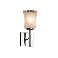 Veneto Luce 1 Light 5 inch Polished Chrome Wall Sconce Wall Light in White Frosted (Veneto Luce), Cylinder with Rippled Rim, Fluorescent
