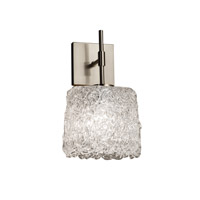Veneto Luce 1 Light 7 inch Brushed Nickel Wall Sconce Wall Light in Lace (Veneto Luce), Oval, Fluorescent
