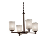 Justice Design Group Veneto Luce 5 Light Chandelier in Dark Bronze GLA-8420-16-WHTW-DBRZ