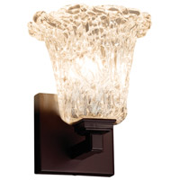Veneto Luce 1 Light 6 inch Dark Bronze Wall Sconce Wall Light in Lace (Veneto Luce), Round Flared, Fluorescent