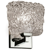 Veneto Luce 1 Light 7 inch Polished Chrome Wall Sconce Wall Light in Lace (Veneto Luce), Oval, Fluorescent