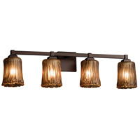 Justice Design Group Veneto Luce LED Vanity Light in Dark Bronze GLA-8434-16-AMBR-DBRZ-LED4-2800