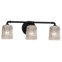 Justice Design GLA-8463-26-CLRT-MBLK-LED3-2100 Veneto Luce LED 24 inch Matte Black Bath Bar Wall Light Square w/ Rippled Rim