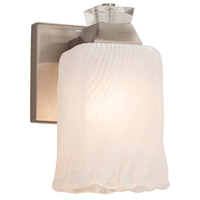 Justice Design GLA-8471-56-CLRT-CROM Veneto Luce 1 Light 6 inch Polished Chrome Wall Sconce Wall Light in Clear Textured (Veneto Luce), Tulip with Rippled Rim, Incandescent photo thumbnail