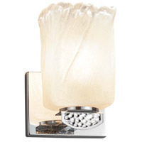 Justice Design GLA-8491-26-WHTW-CROM-LED1-700 Veneto Luce Malleo LED 6 inch Polished Chrome Wall Sconce Wall Light