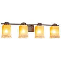 Veneto Luce Malleo 4 Light 33 inch Dark Bronze Bath Bar Wall Light