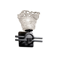 Justice Design Veneto Luce Argyle 1-Light Wall Sconce in Matte Black GLA-8501-40-LACE-MBLK