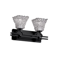 Veneto Luce 2 Light 19 inch Matte Black Bath Bar Wall Light in Lace (Veneto Luce), Square Flared