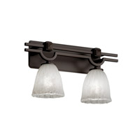 Veneto Luce 2 Light 19 inch Dark Bronze Bath Bar Wall Light in Whitewash (Veneto Luce), Tulip with Rippled Rim