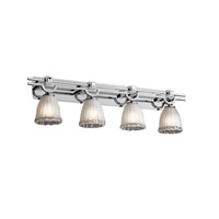 Justice Design Veneto Luce Argyle 4-Light Bath Bar in Polished Chrome GLA-8504-56-WTFR-CROM