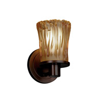 Justice Design GLA-8511-16-AMBR-DBRZ Veneto Luce 1 Light 5 inch Dark Bronze Wall Sconce Wall Light in Amber (Veneto Luce)