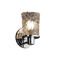 Justice Design Veneto Luce Rondo 1-Light Wall Sconce in Polished Chrome GLA-8511-16-CLRT-CROM