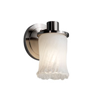 Veneto Luce 1 Light 5 inch Brushed Nickel Wall Sconce Wall Light in Whitewash (Veneto Luce)