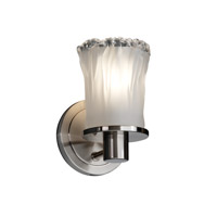 Justice Design Veneto Luce Rondo 1-Light Wall Sconce in Brushed Nickel GLA-8511-16-WTFR-NCKL