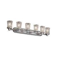 Justice Design Veneto Luce Rondo 6-Light Bath Bar in Polished Chrome GLA-8516-16-CLRT-CROM
