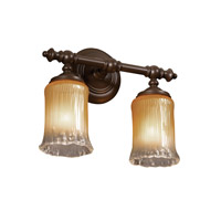 Justice Design Veneto Luce Tradition 2-Light Bath Bar in Dark Bronze GLA-8522-16-GLDC-DBRZ