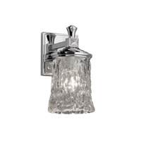 Justice Design GLA-8531-16-CLRT-CROM Veneto Luce 1 Light 5 inch Polished Chrome Wall Sconce Wall Light in Clear Textured (Veneto Luce)