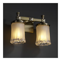 Justice Design Veneto Luce Deco 2-Light Bath Bar in Antique Brass GLA-8532-16-WTFR-ABRS