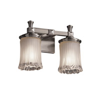 Justice Design Veneto Luce Deco 2-Light Bath Bar in Brushed Nickel GLA-8532-16-WTFR-NCKL