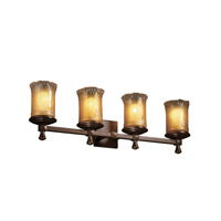 Justice Design Veneto Luce Deco 4-Light Bath Bar in Dark Bronze GLA-8534-16-GLDC-DBRZ