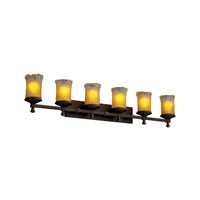 Justice Design Veneto Luce Deco 6-Light Bath Bar in Dark Bronze GLA-8536-16-GLDC-DBRZ