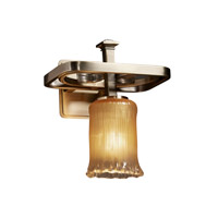 Justice Design Veneto Luce Arcadia 1-Light Wall Sconce in Antique Brass GLA-8561-16-GLDC-ABRS photo thumbnail