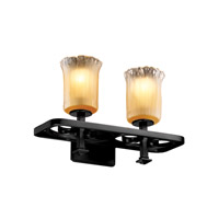 Justice Design Veneto Luce Arcadia 2-Light Bath Bar in Matte Black GLA-8562-16-GLDC-MBLK