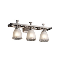 Justice Design Veneto Luce Arcadia 3-Light Bath Bar in Brushed Nickel GLA-8563-56-WTFR-NCKL