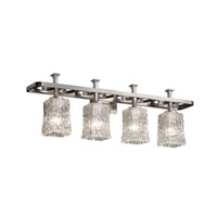 Justice Design Veneto Luce Arcadia 4-Light Bath Bar in Brushed Nickel GLA-8564-26-CLRT-NCKL