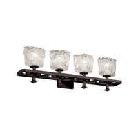 Justice Design Veneto Luce Arcadia 4-Light Bath Bar in Dark Bronze GLA-8564-30-LACE-DBRZ