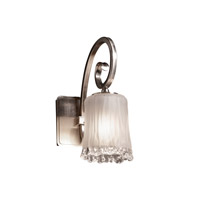 Justice Design Veneto Luce Victoria 1-Light Wall Sconce in Brushed Nickel GLA-8571-16-WTFR-NCKL