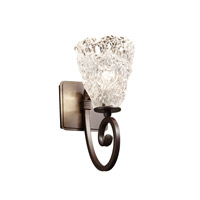 Justice Design Veneto Luce Victoria 1-Light Wall Sconce in Dark Bronze GLA-8571-18-LACE-DBRZ