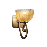 Justice Design Veneto Luce Victoria 1-Light Wall Sconce in Antique Brass GLA-8571-36-GLDC-ABRS