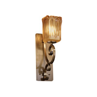 Justice Design Veneto Luce Victoria 1-Light Wall Sconce (Medium) in Antique Brass GLA-8578-26-AMBR-ABRS photo thumbnail