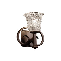 Justice Design Veneto Luce Heritage 1-Light Wall Sconce in Dark Bronze GLA-8581-20-LACE-DBRZ