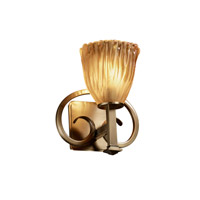 Justice Design Veneto Luce Heritage 1-Light Wall Sconce in Antique Brass GLA-8581-56-AMBR-ABRS
