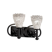 Justice Design Veneto Luce Heritage 2-Light Bath Bar in Matte Black GLA-8582-18-LACE-MBLK