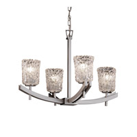 Justice Design Archway 4 Light Chandelier in Brushed Nickel GLA-8590-16-CLRT-NCKL