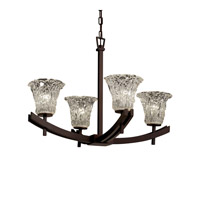 Justice Design Archway 4 Light Chandelier in Dark Bronze GLA-8590-20-LACE-DBRZ