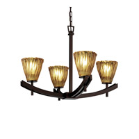 Justice Design Archway 4 Light Chandelier in Dark Bronze GLA-8590-56-AMBR-DBRZ