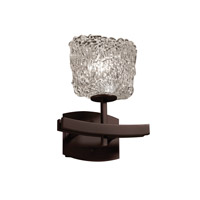 Justice Design GLA-8591-30-LACE-DBRZ Veneto Luce 1 Light 9 inch Dark Bronze Wall Sconce Wall Light in Lace (Veneto Luce), Oval photo thumbnail