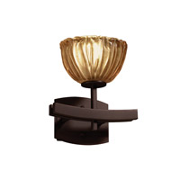 Veneto Luce 1 Light 9 inch Dark Bronze Wall Sconce Wall Light in Amber (Veneto Luce), Bowl with Rippled Rim