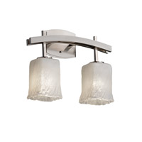 Justice Design Veneto Luce Archway 2-Light Bath Bar in Brushed Nickel GLA-8592-26-WHTW-NCKL
