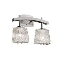 Justice Design Veneto Luce Archway 2-Light Bath Bar in Brushed Nickel GLA-8592-30-LACE-NCKL
