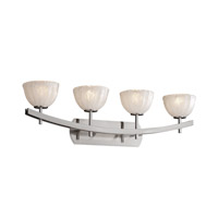 Justice Design Veneto Luce Archway 4-Light Bath Bar in Brushed Nickel GLA-8594-36-WHTW-NCKL