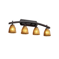 Justice Design Veneto Luce Archway 4-Light Bath Bar in Dark Bronze GLA-8594-56-AMBR-DBRZ