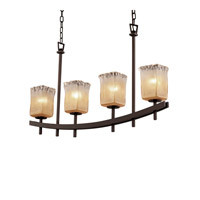 Justice Design Archway 4 Light Chandelier in Dark Bronze GLA-8595-26-GLDC-DBRZ