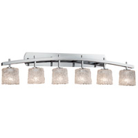 Justice Design GLA-8596-30-LACE-CROM Archway 6 Light 57 inch Polished Chrome Vanity Light Wall Light in Lace (Veneto Luce), Oval thumb