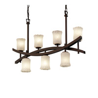 Justice Design Archway 7 Light Chandelier in Dark Bronze GLA-8598-16-WHTW-DBRZ